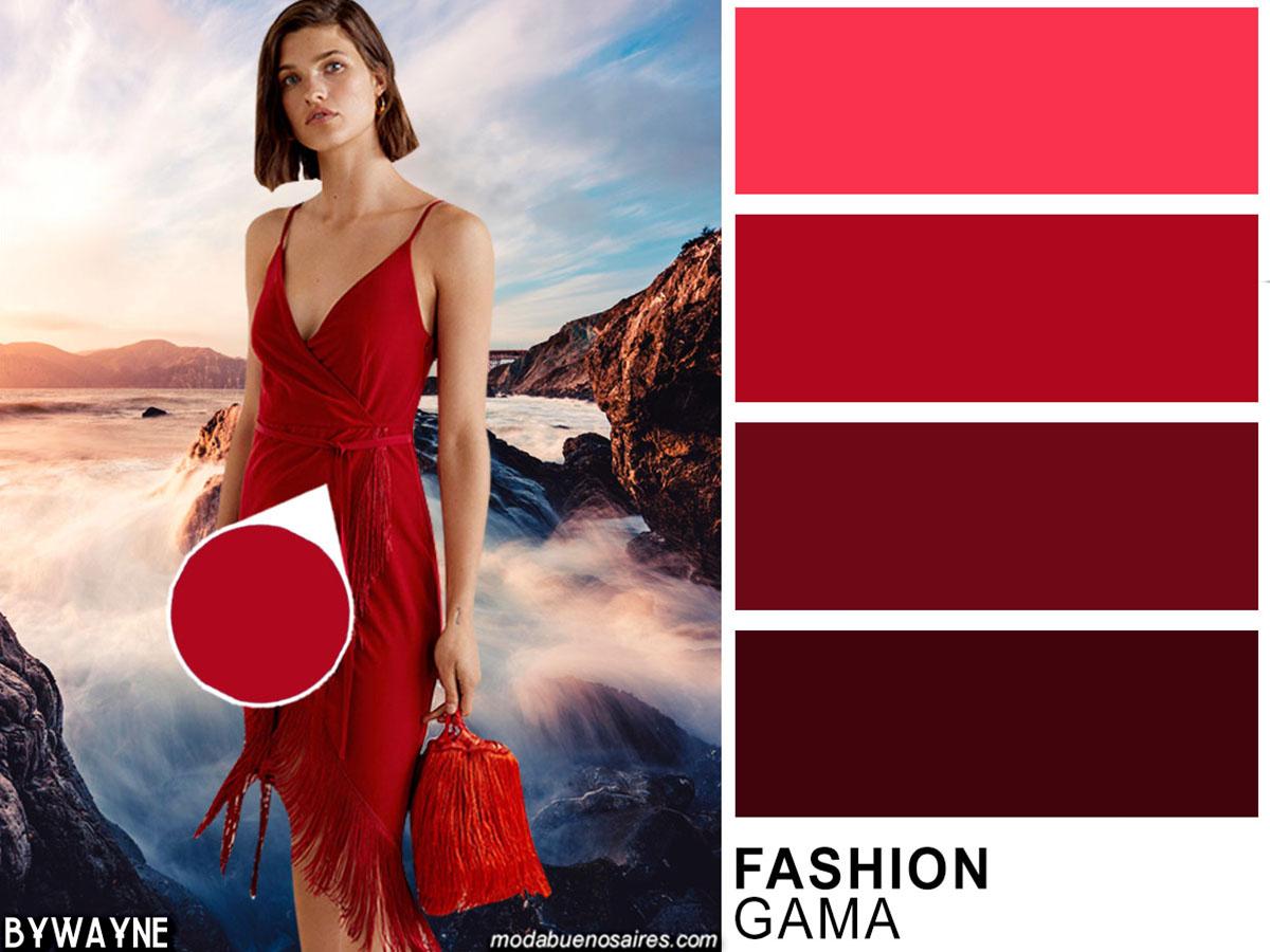 Rojos entre los colores de moda de la primavera verano 2020.