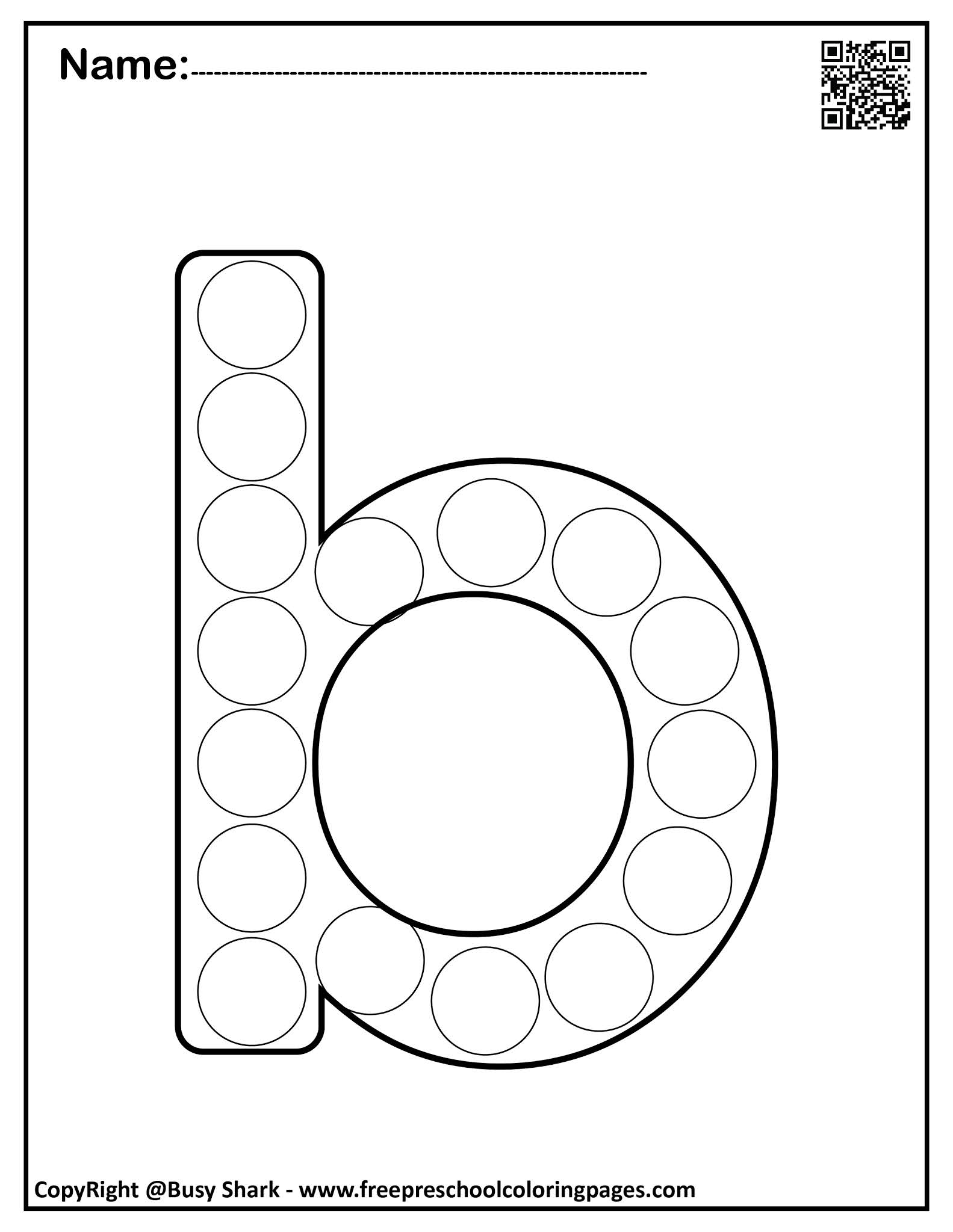 Set Of Letter B 10 Free Dot Markers Coloring Pages