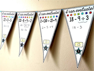 FREE Order of Operations pennant