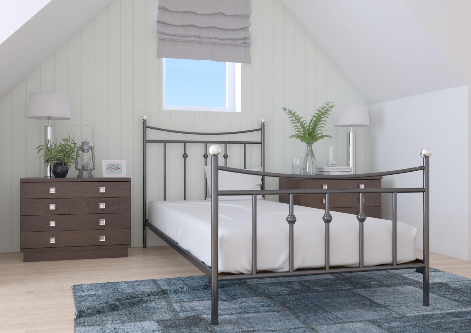 Łóżko metalowe wzór 26