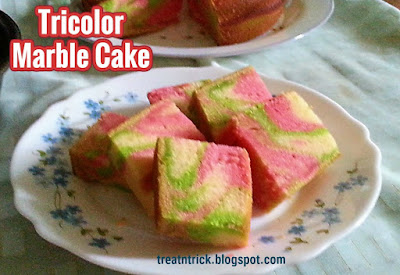 Tri-color Marble Cake, shared by Trick & Treat
