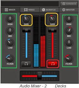 VirtualDJ 8 tutorial : Mengenal Bagian Audio mixer | Hendry Al