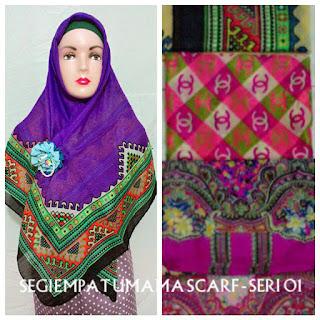 jilbab segi empat umama scarf seri 01