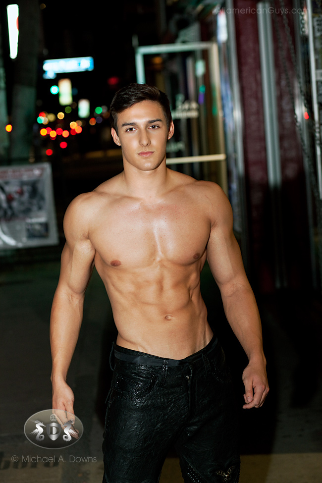 Tyler Anthony, fitness model. Photo taken by Michael