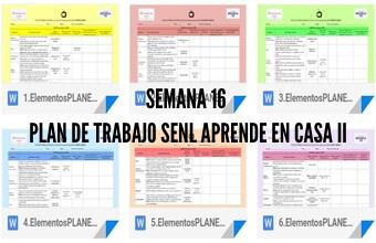 Semana 16 Plan de Trabajo Aprende en Casa II