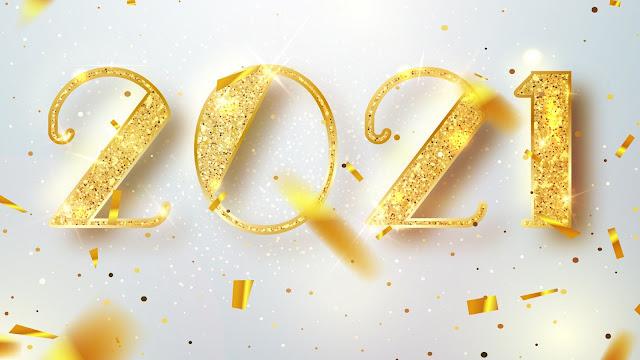 Wallpaper Happy 2021 Golden Year