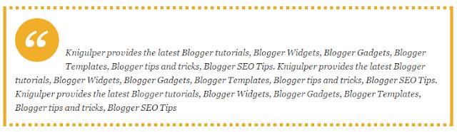 Blogger Blockquote widget style 3