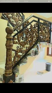 railing besi tempa untuk rumah klasik
