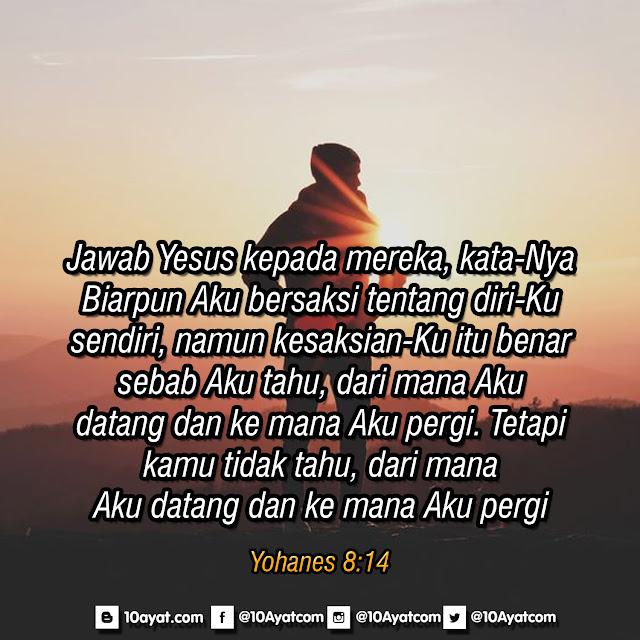 Yohanes 8:14
