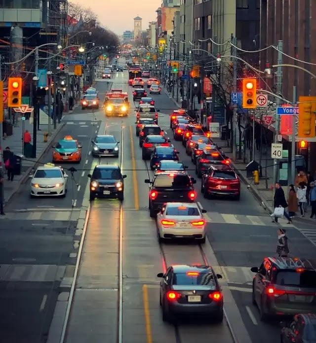 aprende ingles trafico centro ciudad vehiculos calles