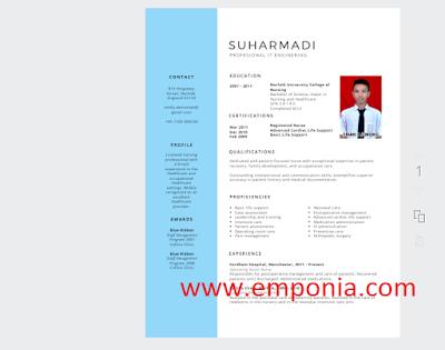 Cara  Membuat CV Mudah Dan Menarik Secara Online
