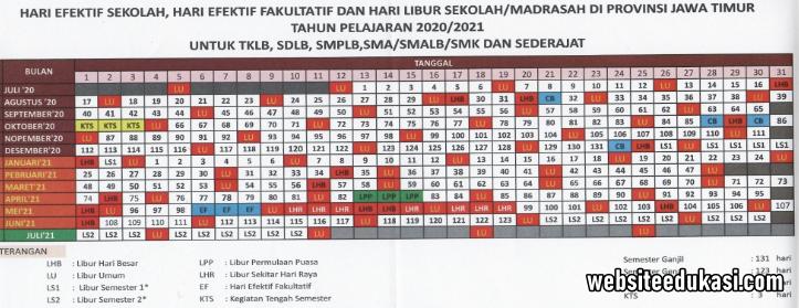 Kalender Pendidikan Jawa Timur Tahun 2020 2021 Websiteedukasi Com