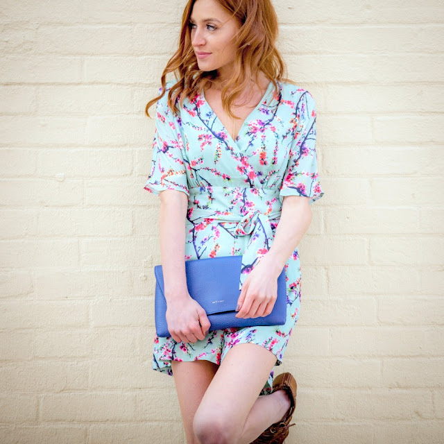 Darling Floral Romper, Matt & Nat clutch, Lemonberry SS16 Lookbook