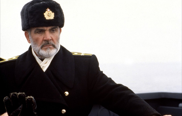 Sean Connery as Soviet submarine commander Marko Ramius in 1990's THE HUNT FOR RED OCTOBER.