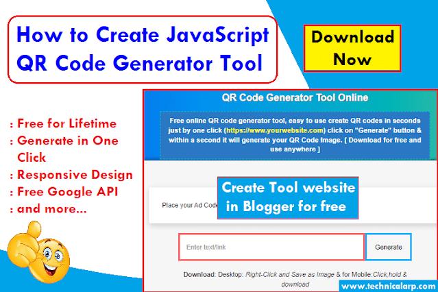 javascript qr code generator script tool script for blogger