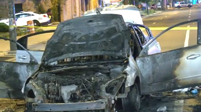 Double Terror- A Gun Shot Wounded Man's Car Catches Fire while Driving Himself to Hospital