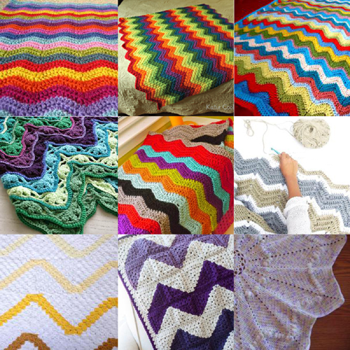 Ten Crochet Ripple Blanket - Free Patterns