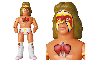 Ultimate Warrior Chest Paint White Edition Sofubi Vinyl Figure by Medicom Toy x WWE