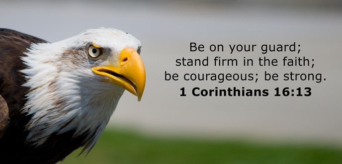 Be on your guard; stand firm in the faith; be courageous; be strong.