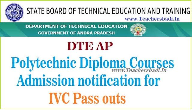 AP Polytechnic Admissions,IVC Pass outs,Application form download