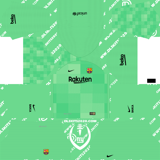 Fc Barcelona Kits 2021-2022 Nike for Dream League Soccer 2019 (Home Goalkeeper)