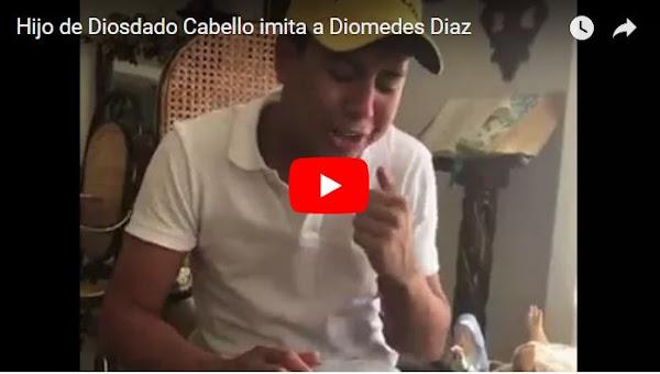 Hijo de Diosdado Cabello imitando a Diomedes Díaz