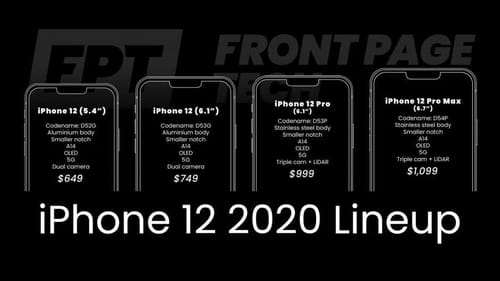 The expected specifications of the next series of Apple iPhone 12 phones