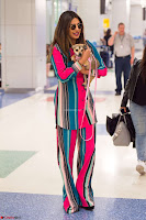 Priyanka Chopra in Colorful Jumpsuit arriving at JFK Airport New York 18 June 2017 ~  Exclusive 014.jpg