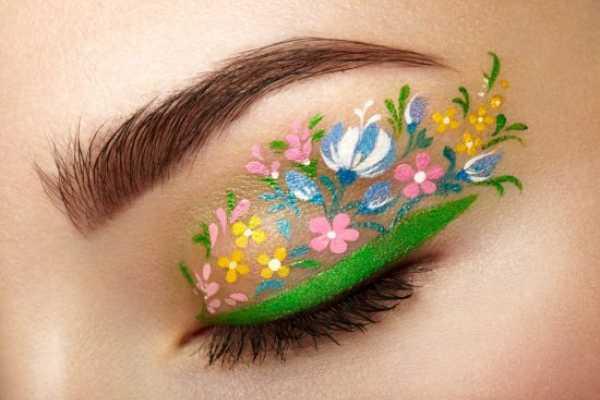 Cvetni-ajlajner-romantično-Instagram-trend-proleće-šminka-makeup