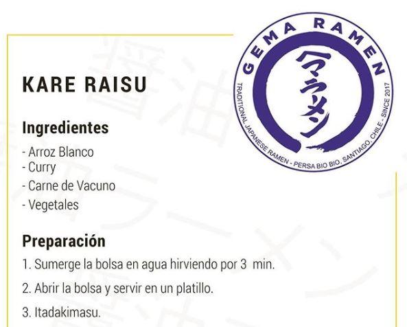 Kare Raisu - Gema Ramen