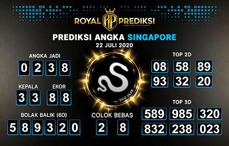 Royal Prediksi Togel Singapura Rabu 22 Juli 2020