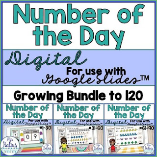 Digital Number of the Day activities helps students develop a strong number sense.  Ready to use on Google Slides your students can complete on any devide.  Share with Google Classroom or with a share link.