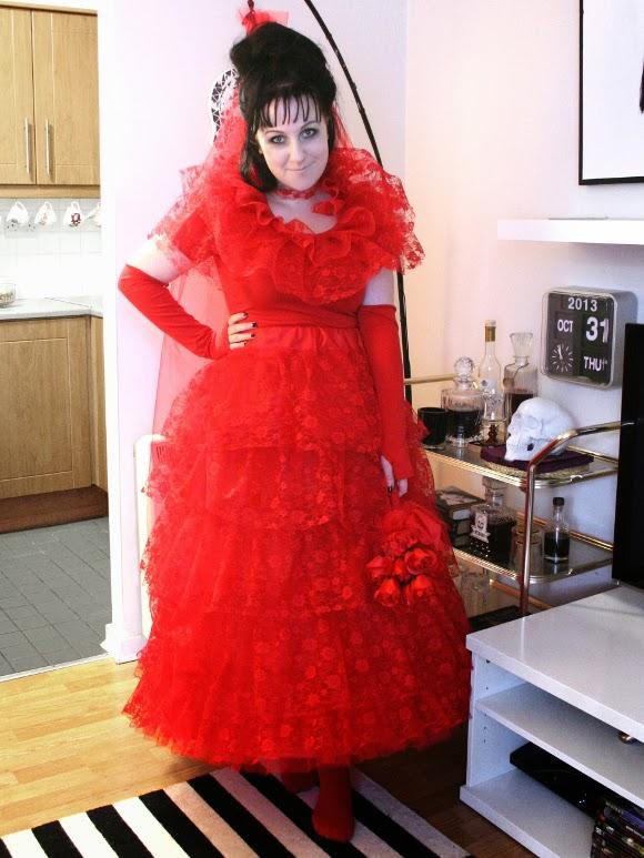 beetlejuice red wedding dress   Wedding