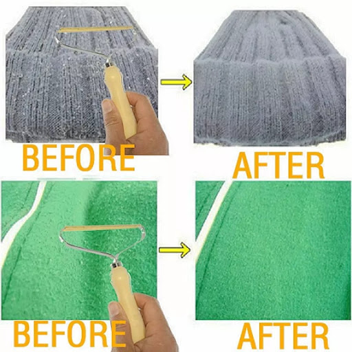 Portable Manual Hair Removal Agent Carpet Wool Coat Clothes Shaver Brush Tool