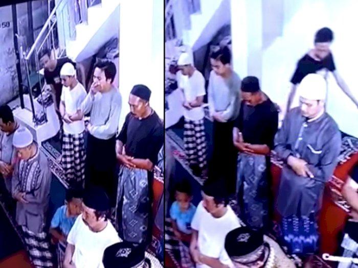 [VIDEO] : Usai Orang Gila Tampar Imam Masjid, Kini Ada Lagi yang Ganggu Orang Salat