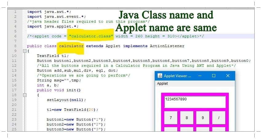 How to Run Java Applet Program