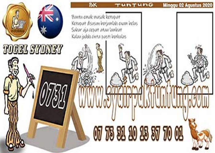 Kode syair Sydney Minggu 2 Agustus 2020 198