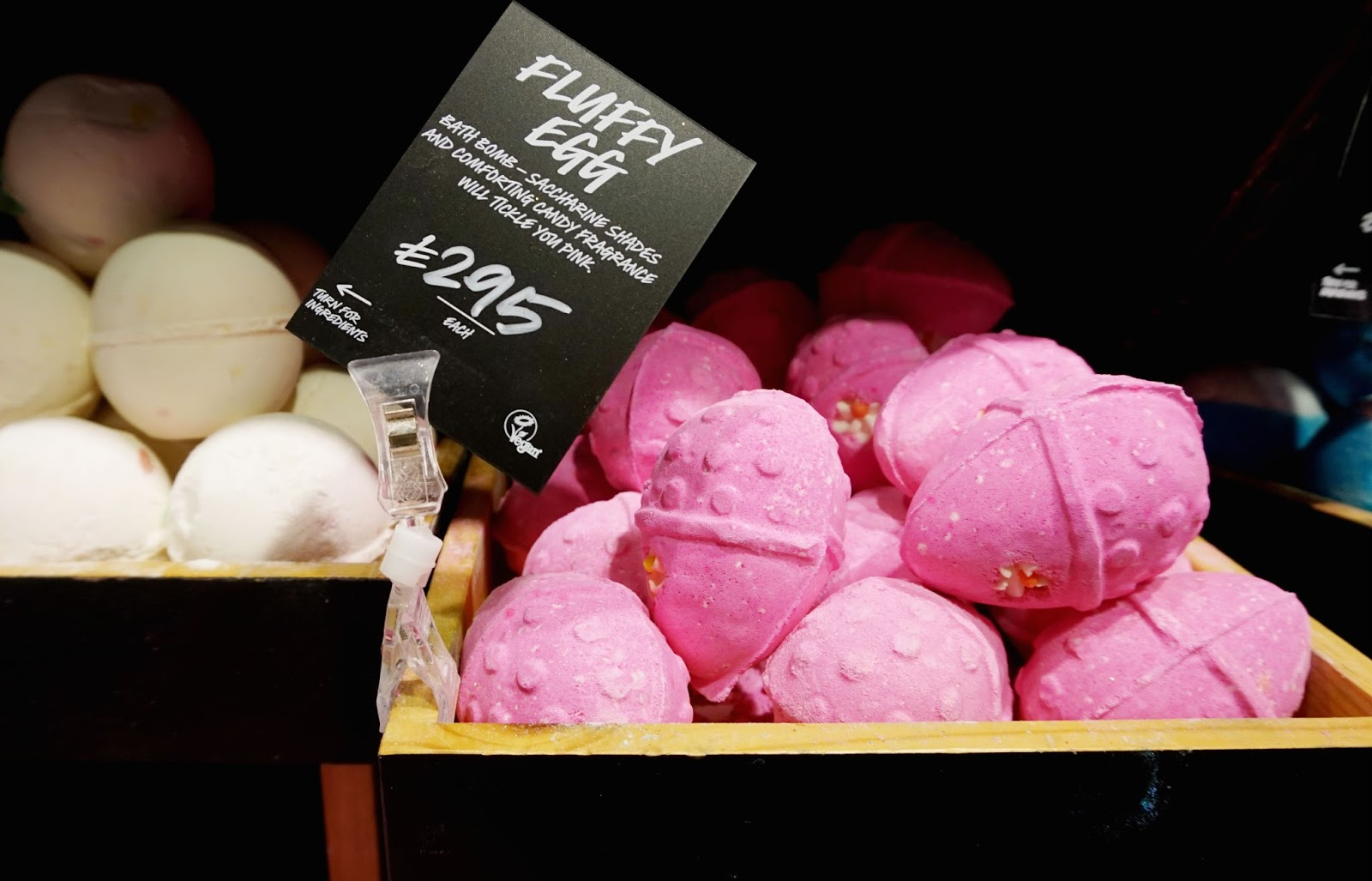 lush cosmetics spring product collection fluffy egg bath bomb natural sweet easter 2016