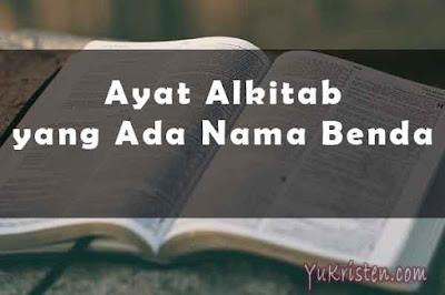 ayat alkitab yang ada nama benda