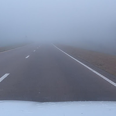 Fog ahead on US 84 in Mississippi