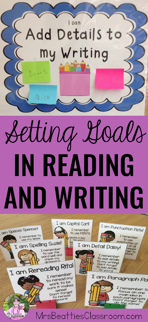 Are you a teacher who is working on setting goals for reading and writing that your students will actually use? Check out the chart and other resource ideas in this post that will give your students independence in goal setting in reading and writing.