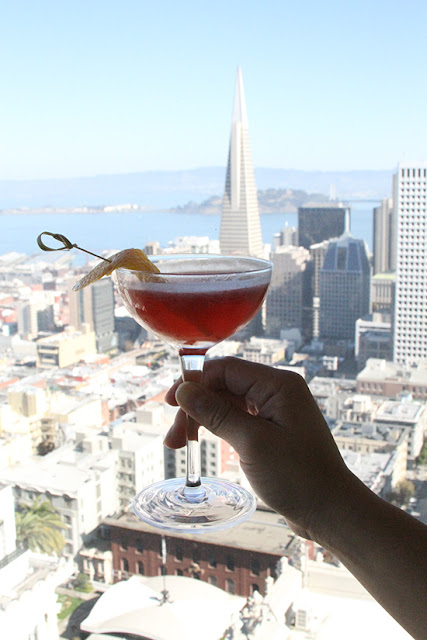 View from Top of the Mark with a Cocktail | Will Bake for Shoes