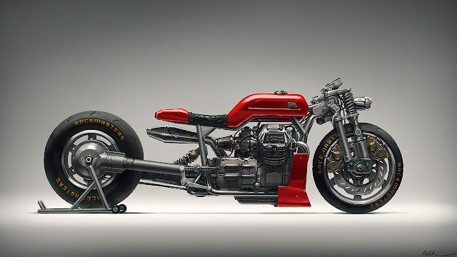 MotoGuzzi drag bike concept by Mehrdad Malek