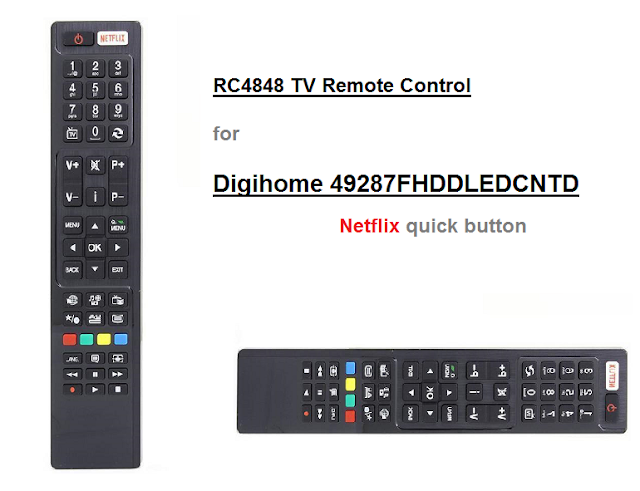 RC4848 TV Remote Control For Digihome 49287FHDDLEDCNTD