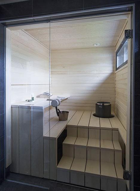 Ideias para uma sauna seca bonita e sofisticada dicas - Bagno turco in casa fai da te ...