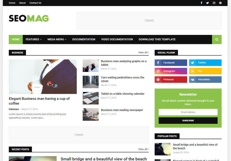 Template Blogspot tin tức responsive chuẩn SEO miễn phí 2020