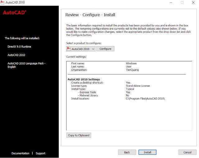 Download autocad 2010 full crack (32 bít + 64 bít). Phù hợp máy yếu. Kèm video tự học