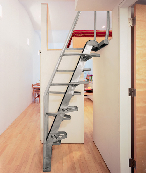 Compact Spiral Staircase: Furniture Interior Design: Compact Stairs For Small Home