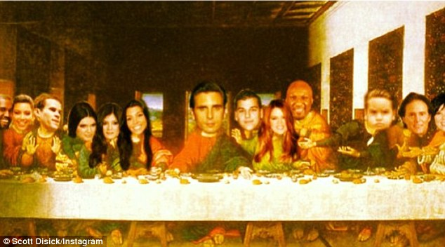 Kim Kardashian Last Supper Photo And Scot Disick Posing As Jesus Offensive?