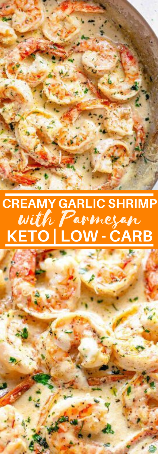 Creamy Garlic Shrimp With Parmesan (Low Carb) #lowcarb #recipes #keto #dinner #shrimp